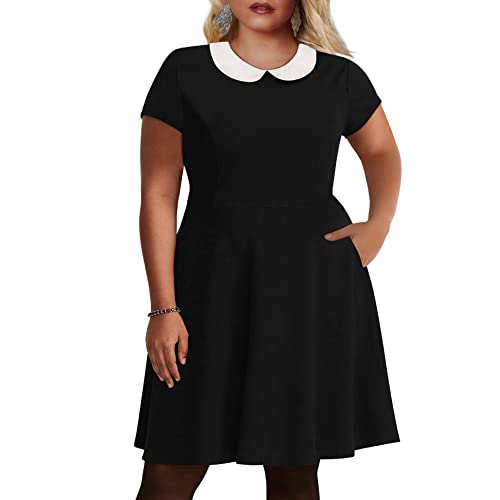 Black Skater Dress Plus Size: Amazon.c