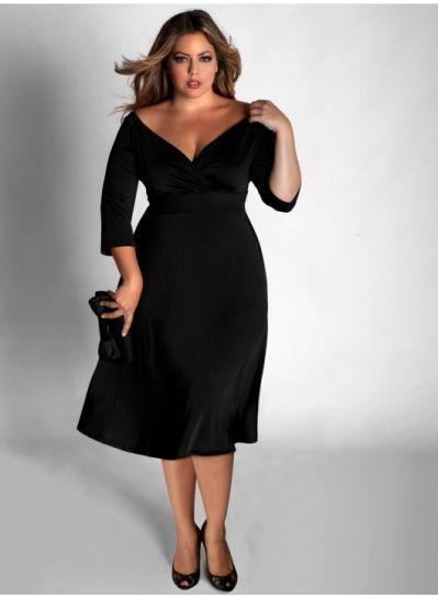 Plus Size Black Dresses For Funeral | Plus size cocktail dresses .