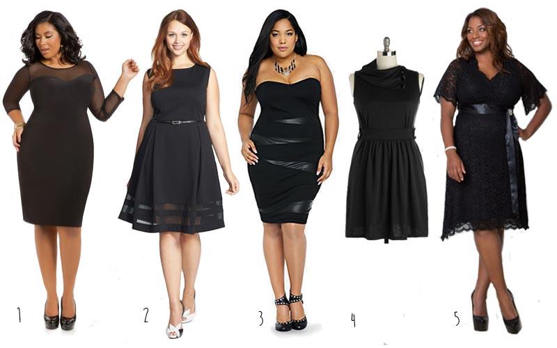 5 Plus Size Black Dress