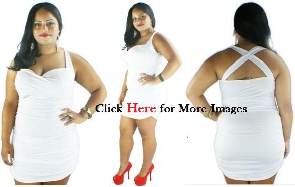 Plus Size White Clubwear as Trendy Style | www.PlusSizely.c