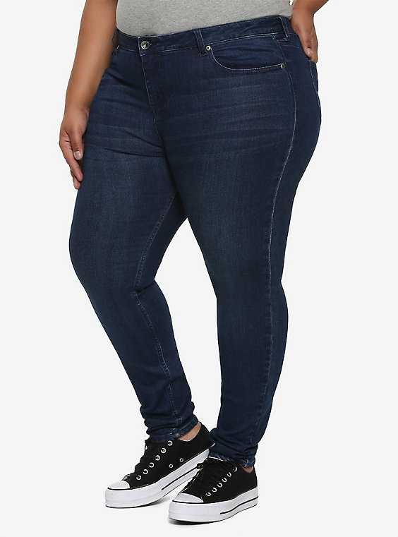 HT Denim Indigo Low-Rise Skinny Jeans Plus Si