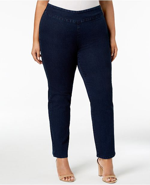 Charter Club Plus Size Stretch Denim Pull-On Jeans, Created for .