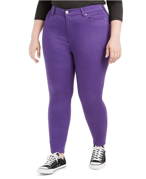 Celebrity Pink Trendy Plus Size Colored Skinny Jeans & Reviews .
