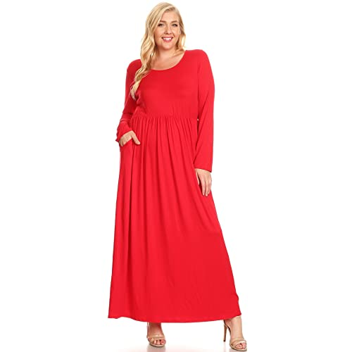 Plus Size Red Maxi Dress: Amazon.c