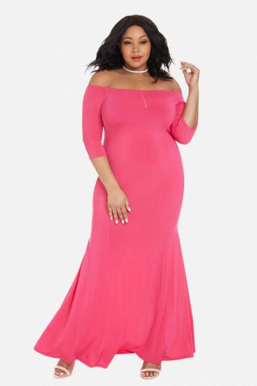 10 Must Have Solid Color Plus Size Maxi Dresses – Estrella Fashion .
