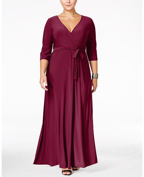 Love Squared Plus Size Faux-Wrap Maxi Dress & Reviews .