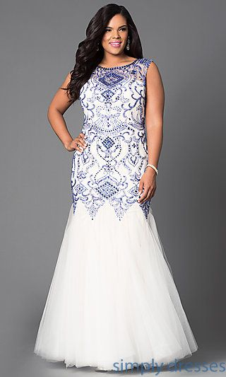 Plus Size Formal Prom Dresses, Evening Gowns | Plus size prom .