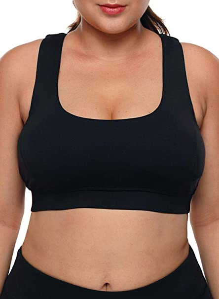 Aleumdr Womens Yoga Sport Bras Plus Size Padded Workout Activewear .