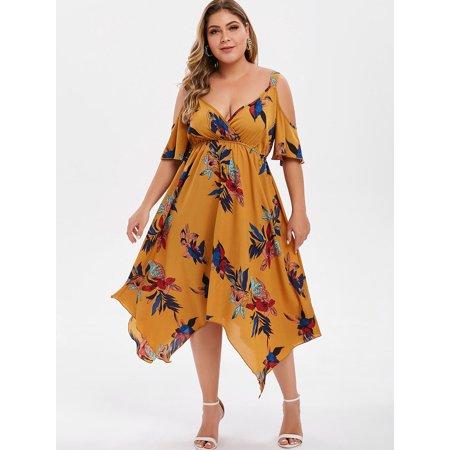 Dressfo - Floor Length Sleeveless Plus Size Sundresses - Walmart .