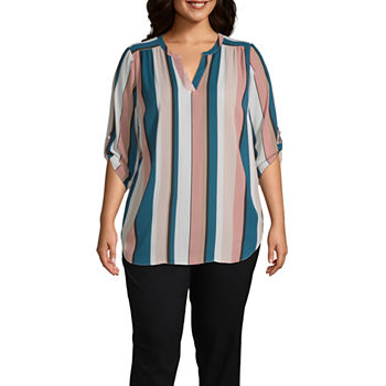 Plus Size Shirts + Tops Pink Tops for Women - JCPenn