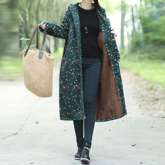 Shop (Toponeto) Women Plus Size Winter Coat Cotton-Padded Printing .