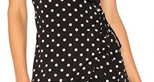 May&Maya Women's Polka Dot Wrap Midi Dress at Amazon Women's .