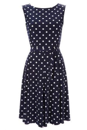 SHOP THIS LOOK: Kate Middleton's blue polka dot dress | Poka dot .
