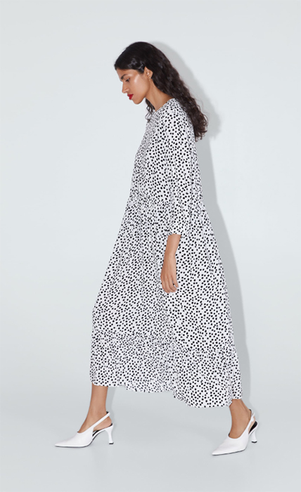 Loved THAT Zara polka dot dress? It now comes in a brand new .