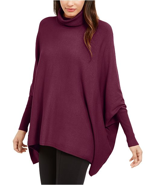 Alfani Turtleneck Poncho Sweater, Created for Macy's & Reviews .