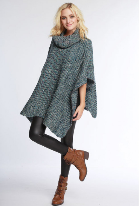 Sweaters - Autumn Vibe Cowl Neck Poncho Sweater | Sincerely Sweet .