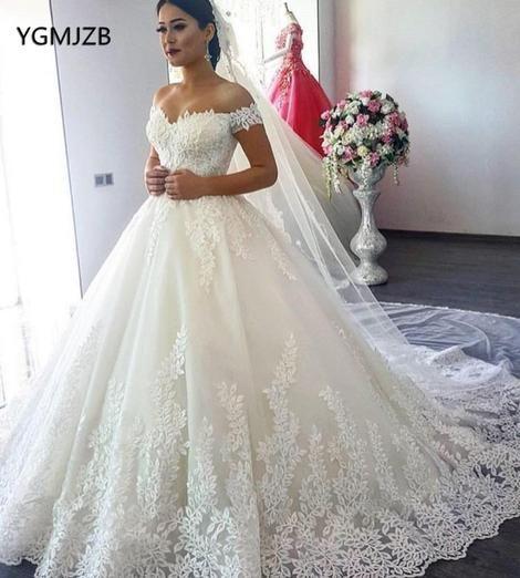 Vestido de Noiva 2019 Princess Wedding Dresses Off Shoulder .