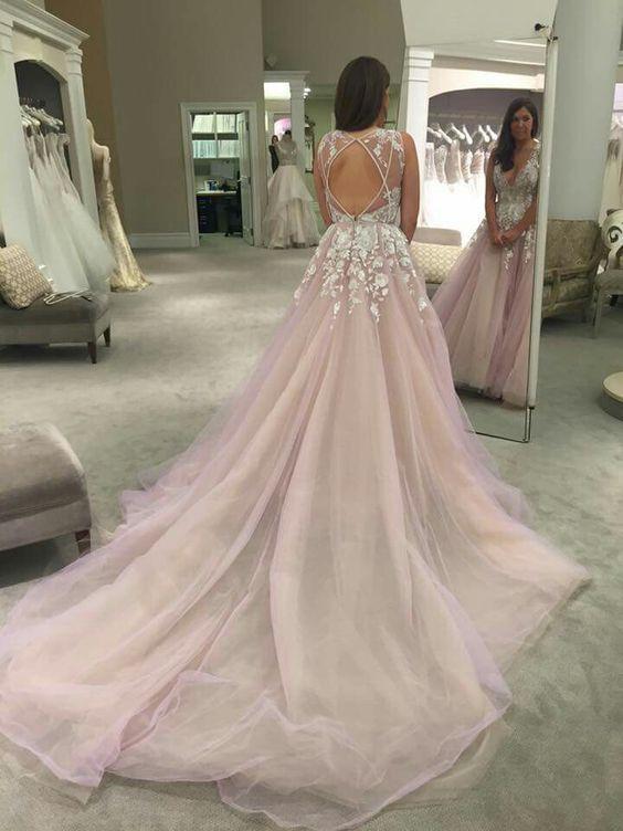 Princess Wedding Dress,Romantic Wedding Dress,Long Train Wedding .
