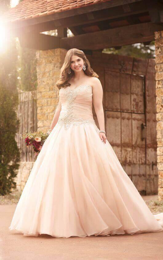 Wedding Gowns | Plus Size Pink Princess Wedding Dress | Essense of .