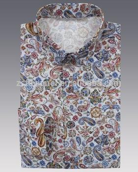 100% Cotton Decorative Pattern Printed Man Shirts,Men Organic .