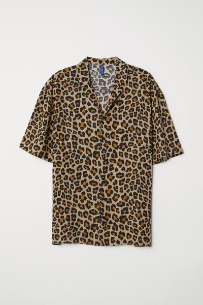 Patterned Resort Shirt   Cheetah print shirts, Leopard print .