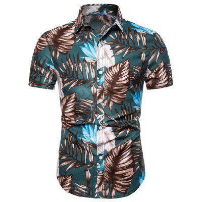 Summer Shirts For Men Printed Shirts Short Sleeved Casual Hawaiian .