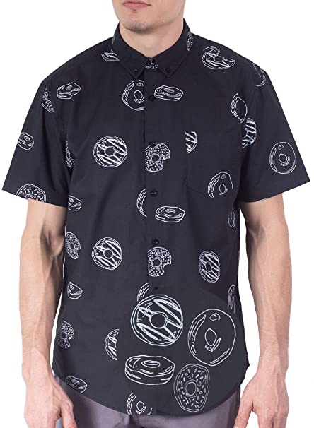 Visive Mens Short Sleeve Button Down Printed Shirts - Over 45 .