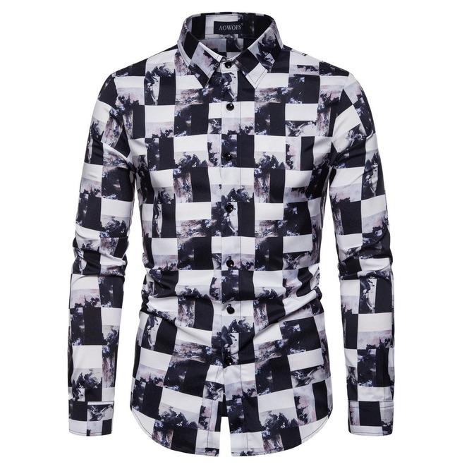 Men's Plaid Digital-printed Shirts   RebelsMark