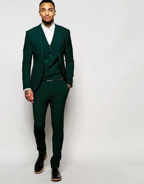 New Arrivals Dark Green Mens Dinner Prom Suits Groom Tuxedos .