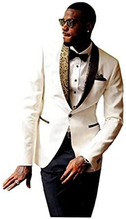 Men's Slim Fit Suits Notch Lapel Wedding Suits One Button Groom .