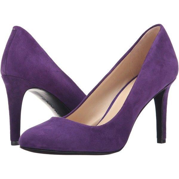 Nine West Handjive (Dark Purple Suede) High Heels ($45) ❤ liked .