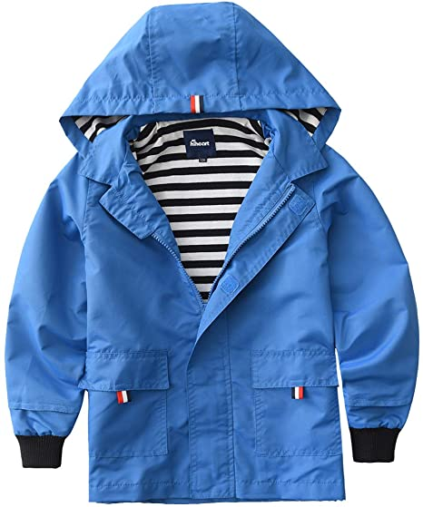 Amazon.com: Hiheart Boys Girls Waterproof Hooded Jackets Cotton .