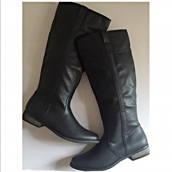 Rampage Shoes | Nib Icon Black Tall Riding Boot | Poshma