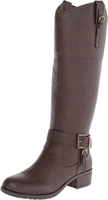 Amazon.com | Rampage Women's Imenna Riding Boot | Knee-Hi