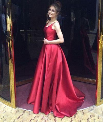 Elegant Red Long Prom Dress Evening Gowns · dressydances · Online .