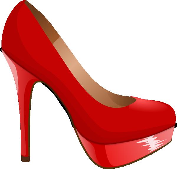 high heel svg   Red High Heel clip art - vector clip art online .