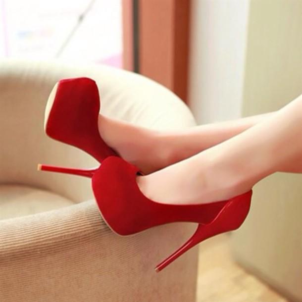 shoes, red, high heels, boom, tumblr, tumblr girl, redheels, heels .