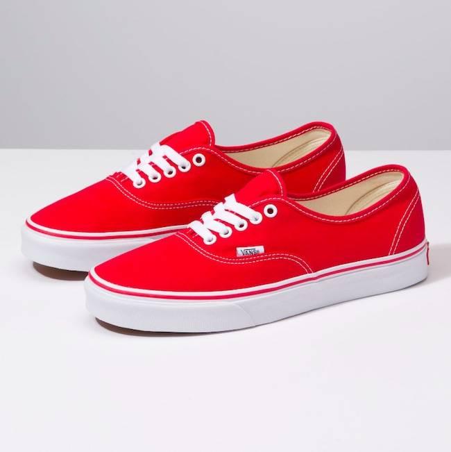 Vans Authentic Red Shoes   Drift House Surf Shop - Drift House .