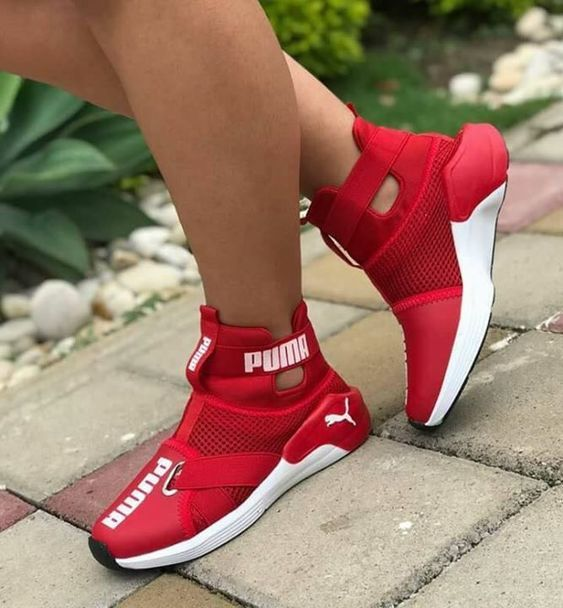 35 Red Shoes That Will Make You Look Cool   Sneakers, Pumas shoes .