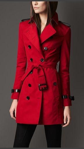 Trench Coats for Women | Burberry® | Red trench coat, Burberry .