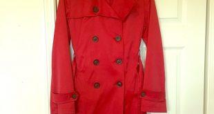 Dkny Jackets & Coats | Womens Red Trench Coat Size S | Poshma