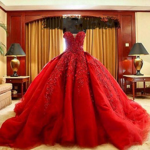 Wedding dresses,lace wedding dresses,organza wedding dress,red .