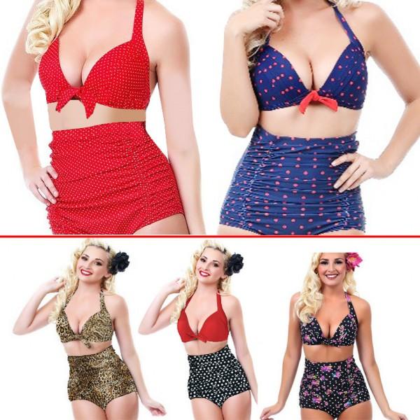New High Waist Bikini Set Women Swimsuit Sexy Retro Bikini .