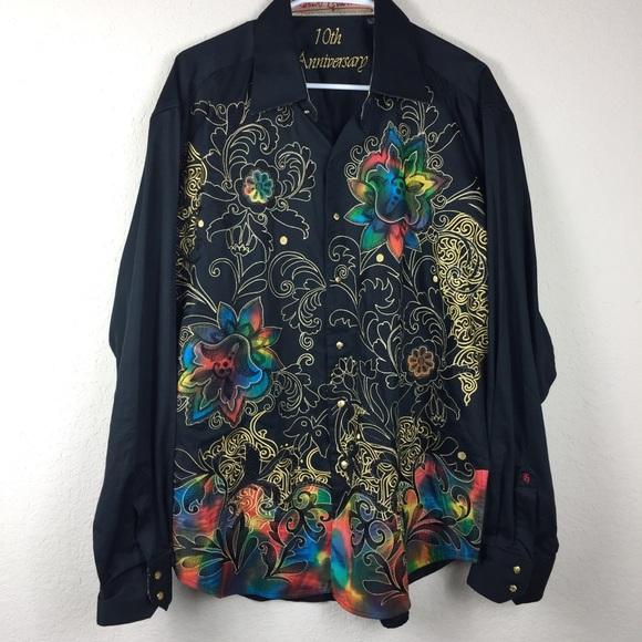 Robert Graham Shirts | 10th Anniversary Button Shirt Men Xl | Poshma