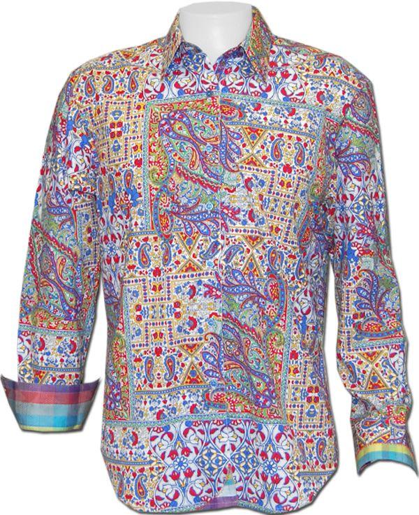 Robert Graham Groovin Sport Shirt | Shirts, Sports shirts, Cool shir