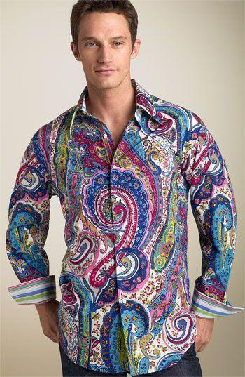 Robert Graham 'Sir Roland' Paisley Shirt | Mens paisley shirts .