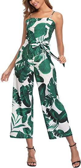 Amazon.com: Summer Jumpsuits for Women Hawaiian Sleeveless .
