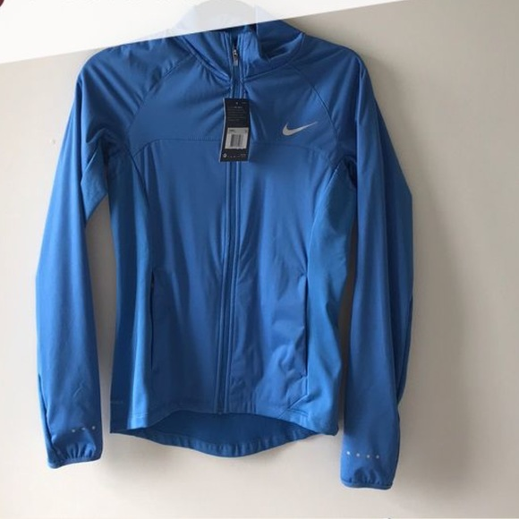 Nike Jackets & Coats | Shield Blue Running Jacket | Poshma