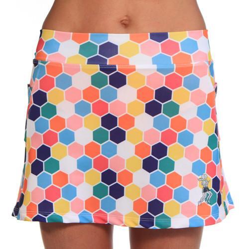 honeycomb rainbow multi colored print running skirt – RunningSkir