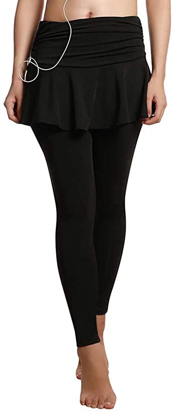 Amazon.com: UDIY Skirted Leggings - Women's Running Skirts Casual .